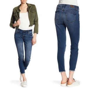 Kut from the Kloth Frayed Hem Skinny Ankle Jeans